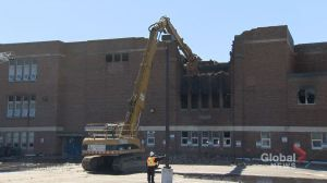 Demolition work has begun at historic Toronto high school